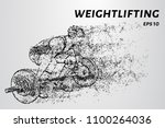 weightlifter of particles.... | Shutterstock .eps vector #1100264036