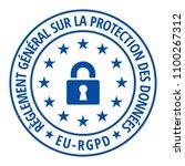 eu rgpd sign illustration | Shutterstock .eps vector #1100267312