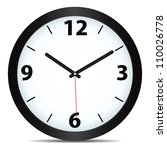 vector mechanical clock | Shutterstock .eps vector #110026778