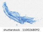 translucent splash or jet of... | Shutterstock .eps vector #1100268092