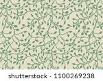 vines and ivy background with... | Shutterstock .eps vector #1100269238