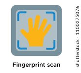 fingerprint scan icon vector... | Shutterstock .eps vector #1100275076