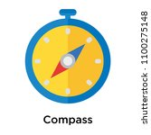 compass icon vector isolated on ... | Shutterstock .eps vector #1100275148