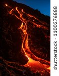 Rivers Of Lava Flowing Down A...