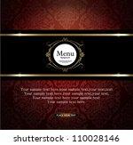 vector. restaurant menu design | Shutterstock .eps vector #110028146