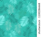 seamless pattern with blue... | Shutterstock .eps vector #1100286668