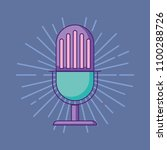 retro microphone design | Shutterstock .eps vector #1100288726