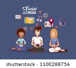 social media design | Shutterstock .eps vector #1100288756