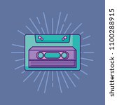 retro cassette icon | Shutterstock .eps vector #1100288915