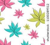 flowers seamless pattern vector ... | Shutterstock .eps vector #1100289512