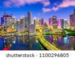 miami  florida  usa downtown... | Shutterstock . vector #1100296805