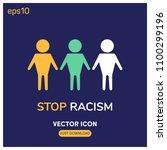 stop racism symbol vector icon...