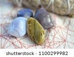 assortment of beautiful healing ... | Shutterstock . vector #1100299982