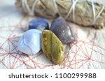 assortment of beautiful healing ... | Shutterstock . vector #1100299988