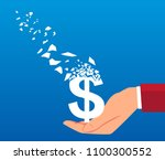 dollar slowly vanished in... | Shutterstock .eps vector #1100300552