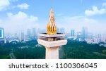 jakarta   indonesia. may 21 ... | Shutterstock . vector #1100306045