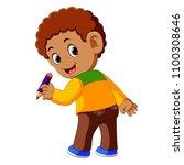vector illustration of back of... | Shutterstock .eps vector #1100308646