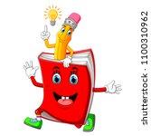 vector illustration of cute... | Shutterstock .eps vector #1100310962