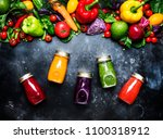 food and drinks  healthy and... | Shutterstock . vector #1100318912