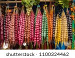 churchkhela. traditional... | Shutterstock . vector #1100324462
