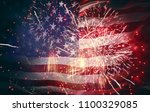 patriotic holiday. the usa are... | Shutterstock . vector #1100329085