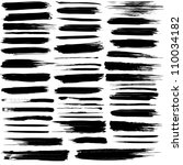 set of grunge brush strokes.... | Shutterstock . vector #110034182