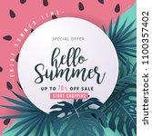 summer sale background layout... | Shutterstock .eps vector #1100357402