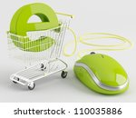 shopping carts operated... | Shutterstock . vector #110035886