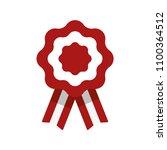 cockade  rosette with ribbon ... | Shutterstock .eps vector #1100364512