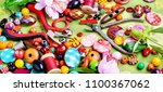 beads  colorful beads for... | Shutterstock . vector #1100367062