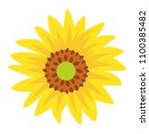 sunflower icon vector clip art | Shutterstock .eps vector #1100385482