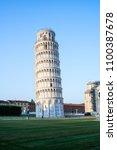 leaning tower of pisa in pisa ... | Shutterstock . vector #1100387678