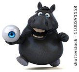 fun horse   3d illustration   Shutterstock . vector #1100391158