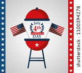 american independence day | Shutterstock .eps vector #1100394278