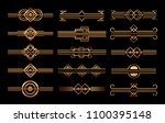 art deco frames and borders | Shutterstock .eps vector #1100395148