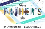 colorful father's day greetings ... | Shutterstock .eps vector #1100398628