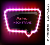 glowing neon frame with light... | Shutterstock .eps vector #1100402198