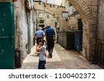 jerusalem israel may 28  2018... | Shutterstock . vector #1100402372