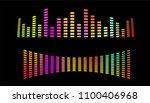 digital equalizer  for radio.... | Shutterstock .eps vector #1100406968