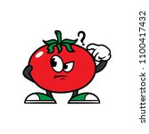 cartoon confused tomato... | Shutterstock .eps vector #1100417432