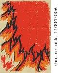Fire Background.vector Grunge...