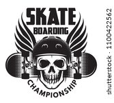 emblem for skateboarding with... | Shutterstock .eps vector #1100422562