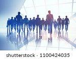 creative digital crowd... | Shutterstock . vector #1100424035