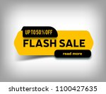 up to 50  off flash sale banner ... | Shutterstock .eps vector #1100427635