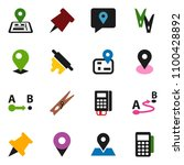 solid vector icon set  ... | Shutterstock .eps vector #1100428892