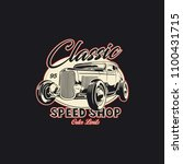 classic car illustration | Shutterstock .eps vector #1100431715