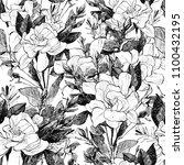 peony seamless pattern. hand... | Shutterstock . vector #1100432195