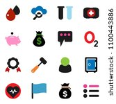 solid vector icon set   meat...
