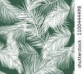tropical palm leaves seamless... | Shutterstock .eps vector #1100444498