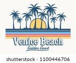 venice beach theme vintage...   Shutterstock .eps vector #1100446706